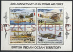 British Indian Ocean Territory Mi.0223-226 Blok 11 czyste**
